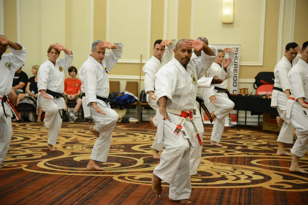 Kyoshi Brian Hobson of the Shorin Ryu Kiyobukan Teaches Rohai at San Diego Summer Camp